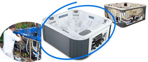 фото оборудование спа бассейна