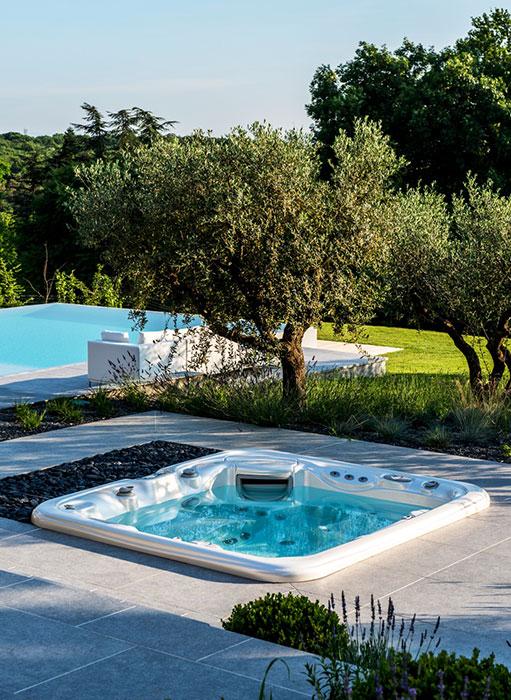 фото встроенный спа бассейн