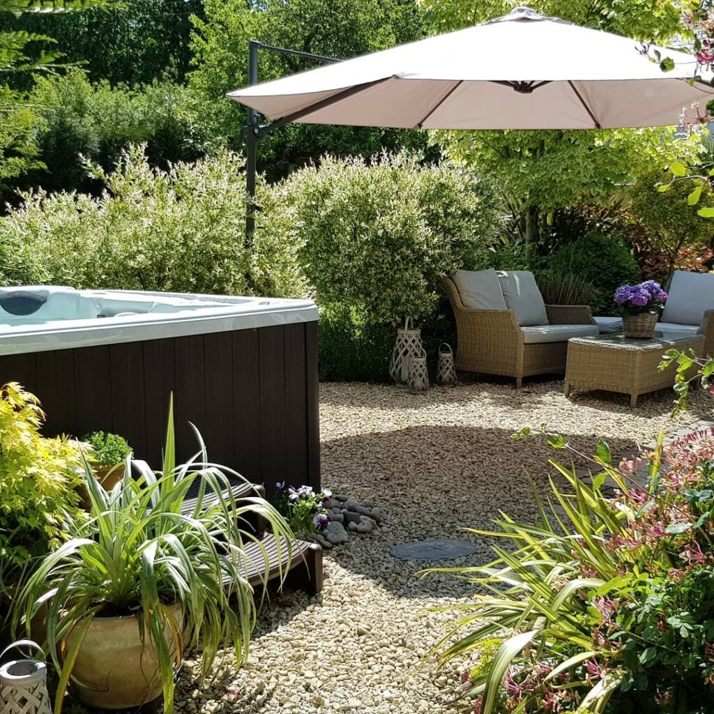 фото спа бассейн сад