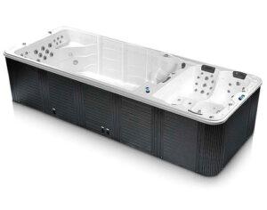 Джакузи спа бассейн с противотоком для улицы с подогревом и гидромассажем denver swimspa 5