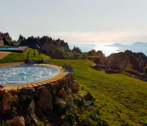 Гидромассажный бассейн спа джакузи круглой формы встроенный Jacuzzi alimia