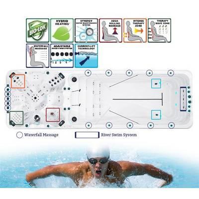 Плавательный Спа бассейн с противотоком Passion Spas Vitality