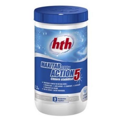 Таблетки стабилизированного хлора многофункциональные 5 в 1 HTH Maxitab Action 5 20гр. 1,2 кг